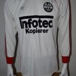 1981 - 1983 Spielertrikot Matchworn Away Langarm vorn