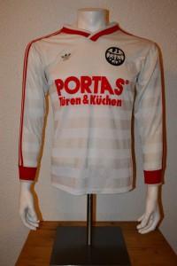 1984 - 1985 - 1986 Spielertrikot Matchworn Langarm Away