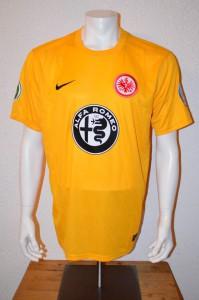 2015 - 2016 Spielertrikot Matchvorbereitet Alex Meier DFB Pokal Ausweichtrikot in Aue Detail