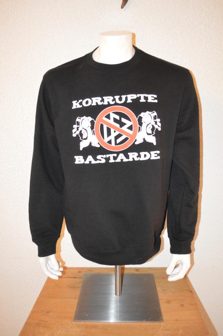 ultras frankfurt uf97 mottopullover korrupte bastarde 15. Black Bedroom Furniture Sets. Home Design Ideas